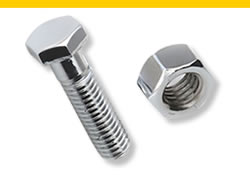 A hex bolt and a hex nut