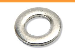 A flat washer made of quality carbon steel.