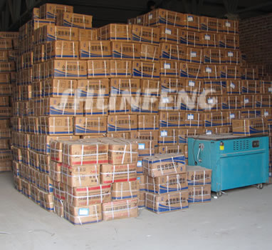 Thousands of boxes that contains a wide range of hardware in the storehouse.